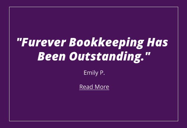 Emily P Testimonial image Furever Bookkeeping
