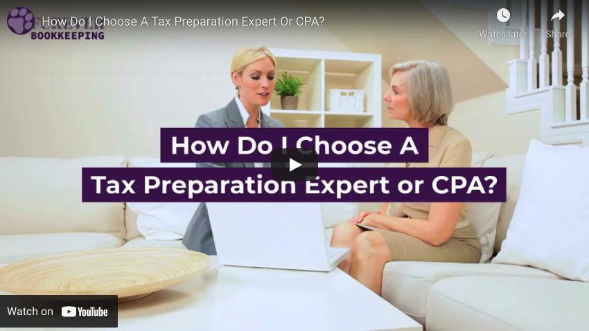 How Do I Choose A Tax Prep Expert or CPA? - Video Thumbnail